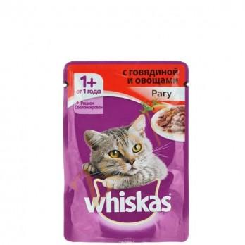 Корм для кошек Whiskas рагу с говядиной 85 гр.