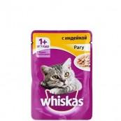 Корм для кошек Whiskas рагу с индейкой 85 гр.