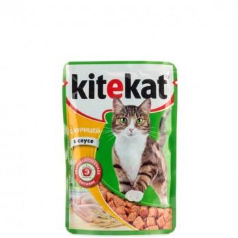 Корм для кошек Kitekat с курицей в соусе 85 гр.