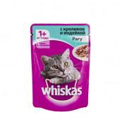Корм для кошек Whiskas Рагу с Кроликом и индейкой 85 гр.
