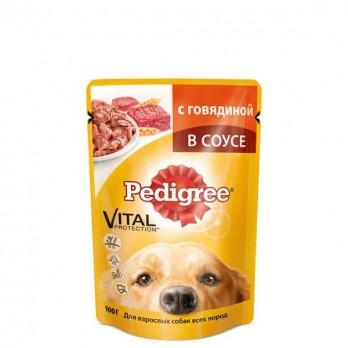 Корм для взрослых собак Pedigree с говядиной 100 гр.