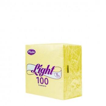 Салфетки бумажные Plushe 22×22 Light 90 шт. в ас-те.