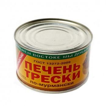 Печень трески ПримРыбСнаб по-мурмански 240гр.