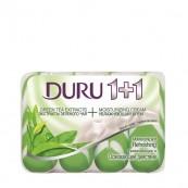 Кусковое мыло Duru «1+1» Зеленый чай 4х90гр.