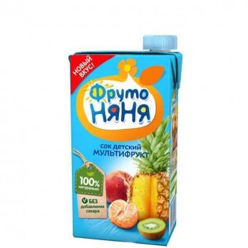 Сок детский ФрутоНяня мультифрукт 0,5л.