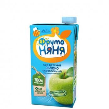 Сок детский ФрутоНяня яблоко 0,5л.