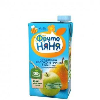 Сок детский ФрутоНяня яблоко и груша 0,5л.