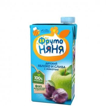 Сок детский ФрутоНяня яблоко и слива 0,5л.