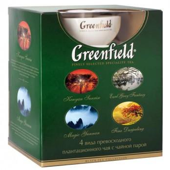 Подарочный набор чая Greenfield + чайная пара