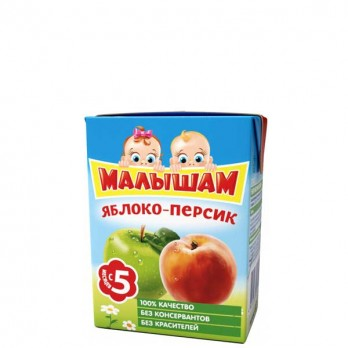 Сок детский ФрутоНяня Малышам яблоко-персик 0,2л.