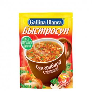 Суп Gallina Blanca грибной с лапшой 17гр.