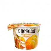 Йогурт Слобода «Семейный завтрак» мандарин, мюсли и миндаль 210гр.