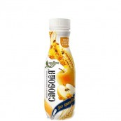 Йогурт питьевой Слобода 2,0% яблоко и злаки 290гр.