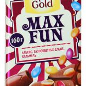 Шоколад Alpen Gold Max Fun взрывная арахис, разноцветное драже, карамель 160г.