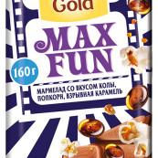 Шоколад Alpen Gold Max Fun мармелад со вкусом колы, попкорн, взрывная карамель 160г.