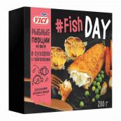 Рыбные порции из филе в сухарях с приправами «Fish DAY» VICI  200гр.