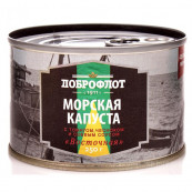 Морская капуста»Восточная» с томатом,чесноком и соевым соусом Доброфлот  НДМ, 250гр.