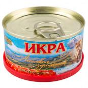 Икра красная ЛОСОСЕВАЯ зернистая(горбуша) «Авистрон»,130 гр.