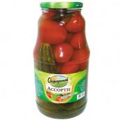 Ассорти томаты/огурцы маринованные,1 800гр.