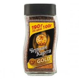 Кофе Чёрная карта «Gold» растворимый сублимированный 190гр.