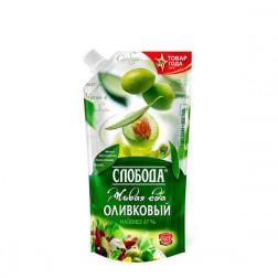Майонез Слобода Оливковый 67%, 400гр.
