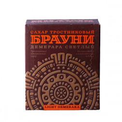 Сахар тростниковый Dark Demerara Брауни прессованный 500г