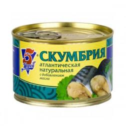 Скумбрия НДМ «5 Морей» 240 гр.