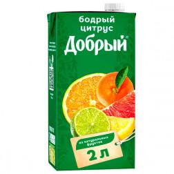 Нектар Добрый Бодрый цитрус, 2л.