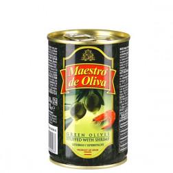 Оливки зеленые Maestro de Oliva с креветками 300гр.
