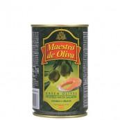 Оливки зеленые Maestro de Oliva с семгой 300гр.