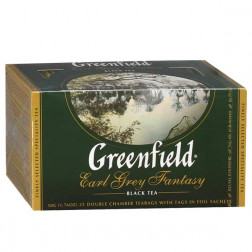 Чай черный Greenfield Earl Grey Fantasy 25пак.