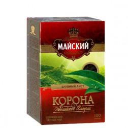 Чай черный Майский Корона Российской Империи крупнолистовой 100гр.