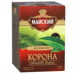 Чай черный Майский Корона Российской Империи крупнолистовой 200гр.
