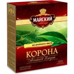 Чай черный Майский Корона Российской Империи 100пак.