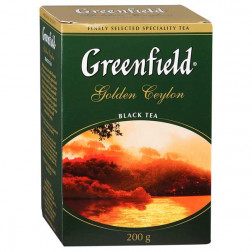 Чай черный Greenfield Golden Ceylon крупнолистовой 200гр.