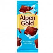 Шоколад Alpen Gold молочный 90гр.