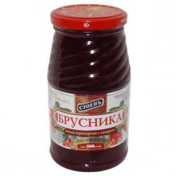 Брусника Стоевъ ягода протертая с сахаром 570гр.