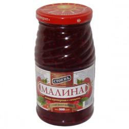 Малина Стоевъ ягода протертая с сахаром 500гр.