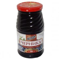 Черника Стоевъ ягода протертая с сахаром 570гр.