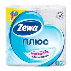 Бумага туалетная «Zewa Plus»  двухслойная 4 рулона