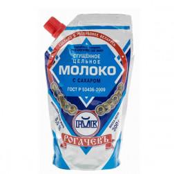 Молоко Рогачев сгущенное цельное с сахаром 300гр.