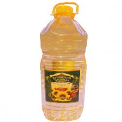 Масло подсолнечное Кубанский Маслодел рафинированное 5л.АКЦИЯ