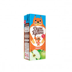 Сок детский Дары Кубани яблоко 0,2л.