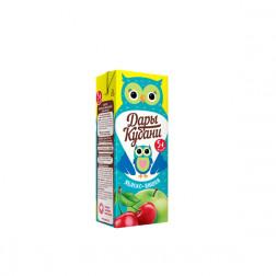 Сок детский Дары Кубани яблоко-вишня 0,2л.