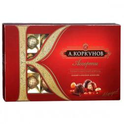 Набор конфет А.Коркунов Ассорти темный и молочный шоколад 190гр.