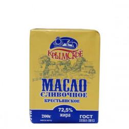 Масло сливочное Крымское крестьянское 72,5% 200гр.