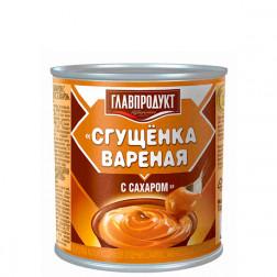 Сгущенка вареная с сахаром в ас-те, 380гр.