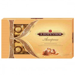 Набор конфет А.Коркунов «Ассорти. Молочный шоколад» 190гр.