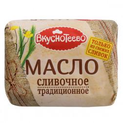 Масло сливочное Вкуснотеево традиционное 82,5% 200гр.