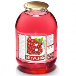 Напиток сокосодержащий ВкусноСок малиновый 3л.